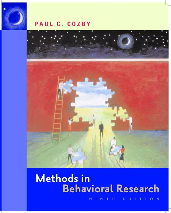 methods in behavioral research 13th edition chapter 1